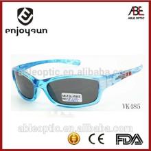 Haute qualité enfants transparents lunettes de soleil sport en gros