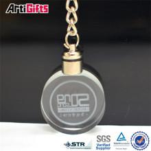 Custom design souvenir crystal spinning keychains