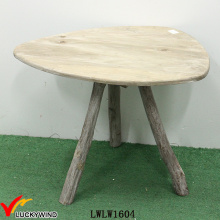 Triangle Shaped Small Antique Coffee Table