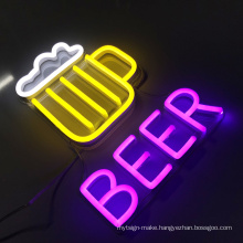Wholesale outdoor sign led  beer neon logo  custom led neon sign bar display