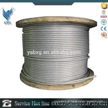 Construção Aplicação aço laminado a frio especial uso de aço inoxidável cabo de aço 6 milímetros na China