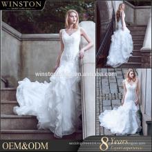 новый стиль алибаба V шеи свадебные платья королевский или собора поезда