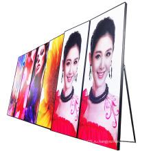 P1.667 Внутренний портативный рекламный светодиодный экран с зеркалом для плакатов