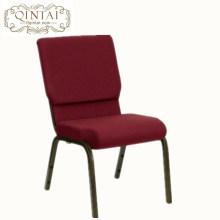 Factory supply metal interlock church chair for auditorium