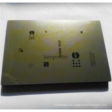 Pulido acabado máquina de tampografía gruesa / fina placa de acero