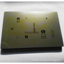 Polido acabamento máquina de impressão da almofada grossa / fina placa de aço