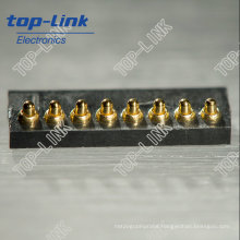 Custom Brass Spring Contact Pin with Fine Pitch, Plastic Housing