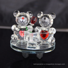 Оптовая Красивый Кристалл K9 Плюшевый Медведь Для Украшения