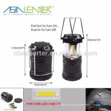 Productos de líder de Asia BT-4808 3 * 3W 1500 Lumen COB telescópica luz de camping