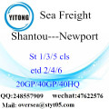 Shantou Port Sea Freight Shipping ke Newport