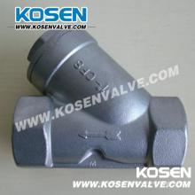 Filtro de rosca tipo Y de aço inoxidável (YG11)