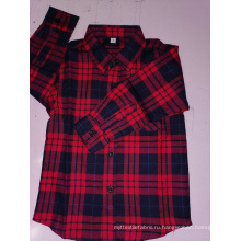 Детская хлопковая фланелевая рубашка с длинным рукавом в клетку y / d