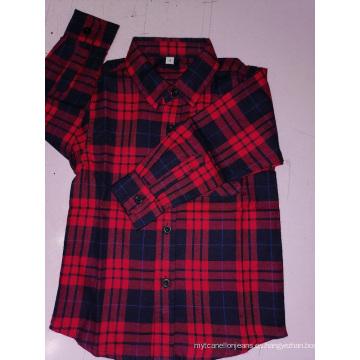Venta caliente niños camisa de algodón