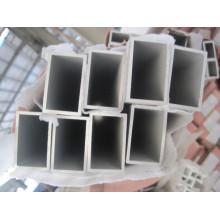6061 t6 aluminium rectangle tube powder coating milky white color