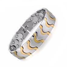 Новое прибытие мужские магнитные титана из нержавеющей стали кристалл браслеты