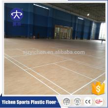 Superfície Antislip do revestimento do Badminton do teste padrão de madeira do vinil das vendas diretas da fábrica de Yichen
