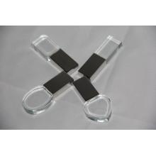 Unidad flash USB de cristal más caliente con el logotipo interior
