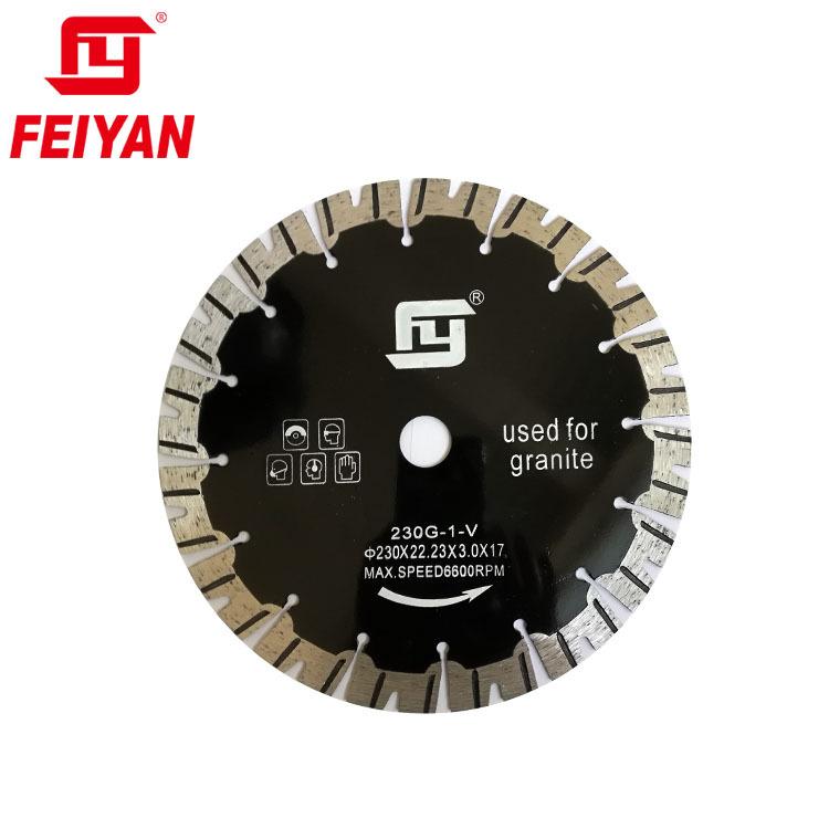 9 inch 230mm Diamond Saw Blade Dry Cutter for Granite granite cutting disc Feiyan Diamond Tools