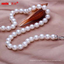 9-10mm AAA Perfect Round Handmade Genuine Pearl Necklace