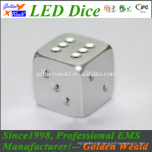 White Standard 19mm Game Dice MCU control colorful LED CNC aluminium alloy dice