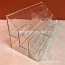Messe-Tabelle Top-Display 2-Layer 6 Taschen Kleine klare Acryl Visitenkarte Name Kartenhalter