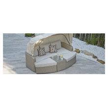 Osier jardin couvert hôtel banquette-lit rotin meubles extérieurs de Patio