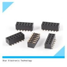 China Fabrik 2mm Pitch 12 Pin Weibliche SMT Pin Header Zweireihig