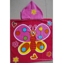 (BC-PB1017) Poncho de playa para niños con estampado de algodón 100% de buena calidad