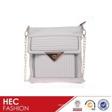 new designer strips pattern lady leather shoulder bag