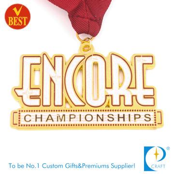 Versorgung Gute Qualität Custom Metall Soft Enamel Award Souvenir Medaille mit Höhle aus