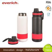 Everich botella de bebida de deportes de vacío de boca ancha con tapa deportiva