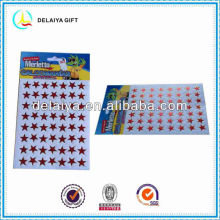 lovely smile face hologram/laser sticker
