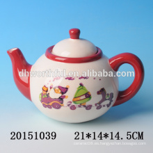 2016 nuevos vajilla de Navidad, tetera de cerámica de la Navidad de cerámica con la pintura de Papá Noel
