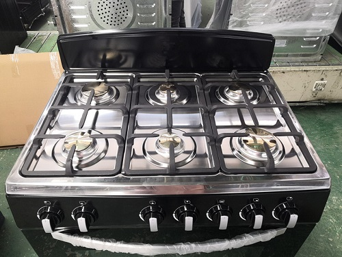 Professional Freestanding Gas Range with 6 Burner Stainless Steel Oven for Kitchen Restaurant