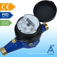 MEDIADOS certificado Multi Jet latón el tipo seco contador del agua