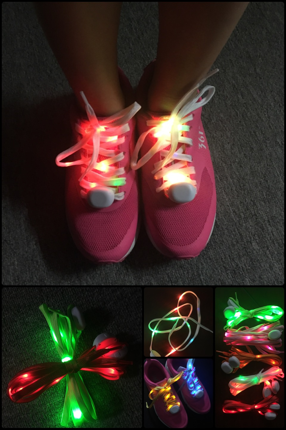 LED shoealce charms
