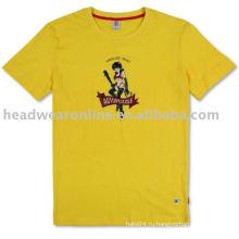 Круглые футболки с трафаретной печатью