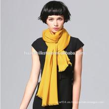 70x200cm Venta al por mayor 10 color sólido disponible lana amarillo invierno bufanda