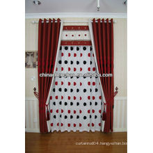 polkadot pattern embroidery curtain