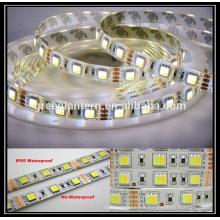 DC12V Dimmable étanche 300 leds CCT flexible SMD5050 double couleur led bande de lumière