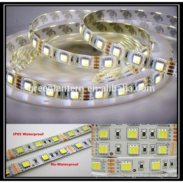 DC12V Dimmable waterproof 300 leds CCT flexible SMD5050 dual color led strip light