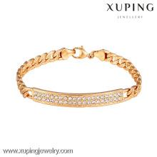 73034 Xuping nouveau conçu gros bracelets plaqués or femmes