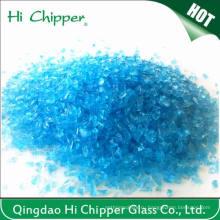Lanscaping стеклянный песок измельченный Ocean Blue Glass Chips Декоративное стекло