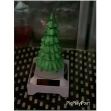 bougie de noël de fête sans flamme en forme d'arbre de noël