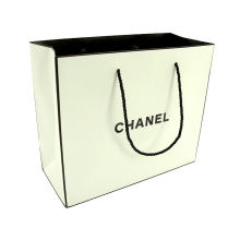 Good Quality Christmas Paper Bag White Kraft Paper Bag Twisted Paper Handle Guangzhou Supplier