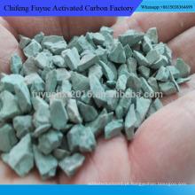 Material de filtro de pó de zeólito para purificação de água potável