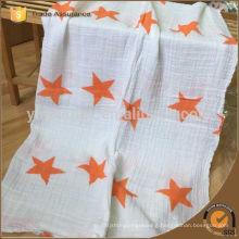 Muslin cotton star print fabric