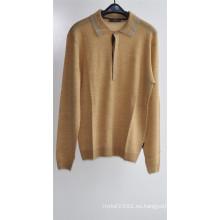 100% lana de los hombres de manga larga jersey de jersey de punto