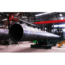 ASTM A53 API standard SSAW steel pipe beveled ends.