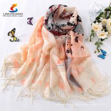 multi colour 100% Wool Pashmina scarves long Women beautiful soft wrap shawl